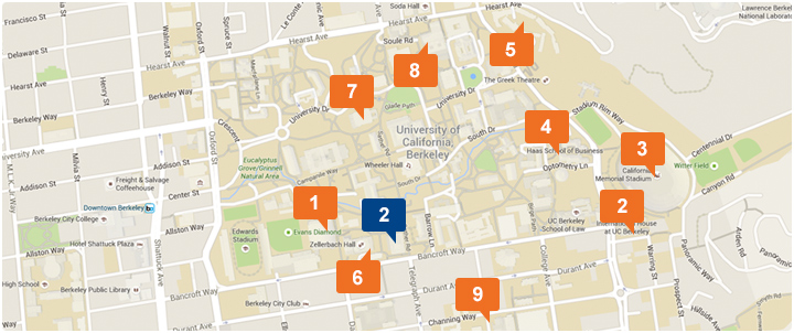 Map of area around UC Berkeley
