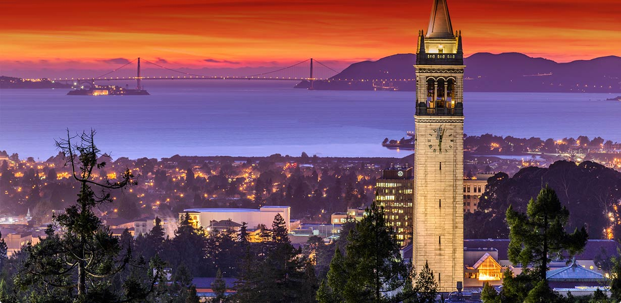 UC Berkeley Campanile at Sunset