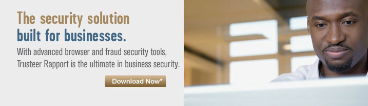 The security solution built for businessess. With advanced browser and fraud security tools, Trusteer Rapport is the ultimate in business security.